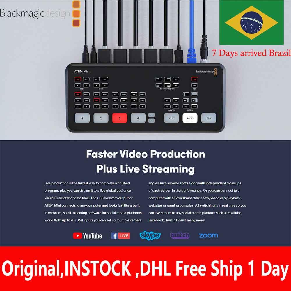 Switcher Blackmagic-Design Live-Stream ATEM Mini Hdmi INSTOCK Recording Multi-View Features