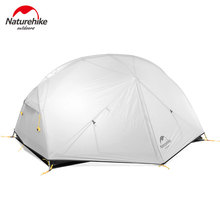 Naturehike Mongar 2 Person Camping Tent Ultralight 20D Double Layer Waterproof Travel Tent Camping Hiking Equipment With Mat