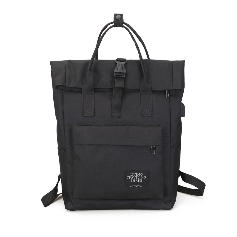 Women Large Capacity Canvas Backpack Multifunctional Shoulder Laptop Rucksack USB School Bag Fashion Travel Backpack for Girls