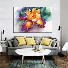 Colorful Abstract Garden Iris Canvas Paintings Prints and Posters Cuadros Wall Art Pictures for Living Room Home Decor Frameless