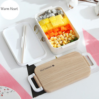 White/Pink Lunch Box Tableware Eco-friendly Portable Plastic Microwavable Dinnerware Set Bento Box Food Container For Kids Adult