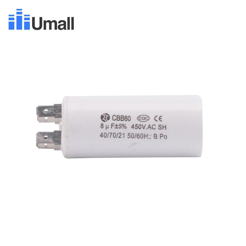 CBB60 10UF 450V Condensatore per motore 5/% SH 40//70//21