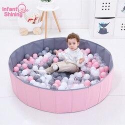 Niemowlę Shining Ball Pits składany basen z piłeczkami średnica 120 CM/47IN piłka oceaniczna kojec zabawka zmywalny składany płot dzieci urodziny prezent w Baseny z piłkami od Zabawki i hobby na