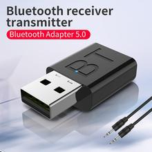 Rondaful Bluetooth 5.0 Adapter Bluetooth Transmitter Receiver 3.5mm Stereo Audio Sound Music Dongle For TV PC Headphones Speaker bluetooth dongle transmitter 3 5mm audio adapter transmitter for tv speaker usb bluetooth adapter for car stereo bluetooth dong