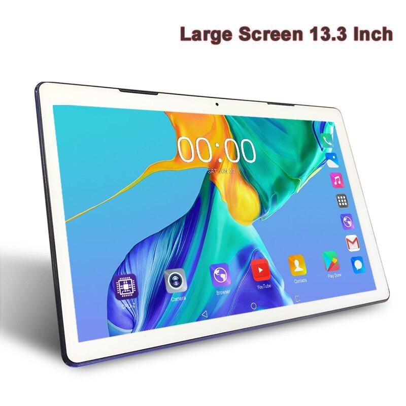 Новейший 13,3 дюймовый планшет с большим экраном 1920x1080 FHD 4G Lte, с функцией звонка, 3 ГБ ОЗУ, 64 Гб ПЗУ, Android 7,0, планшеты, SIM карта, 2,4G/5G, WiFi
