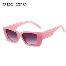 OEC CPO-gafas De Sol cuadradas Vintage para mujer, anteojos De Sol Retro Steampunk, De marca De diseñador, rectangulares, O903