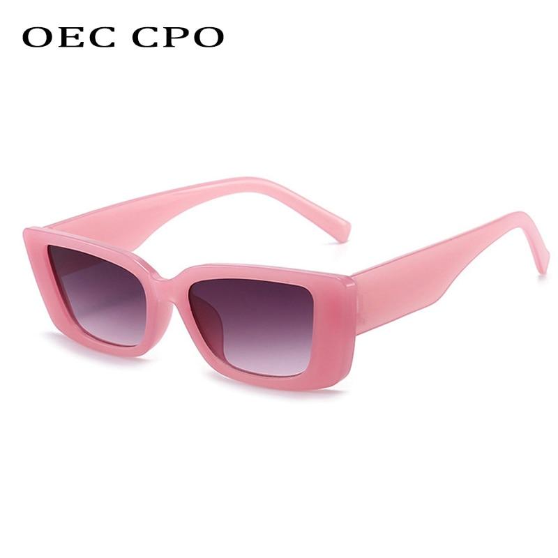 OEC CPO occhiali da sole quadrati Vintage donna Steampunk occhiali da sole retrò Designer di marca femminile occhiali rettangolari Oculos De Sol O903