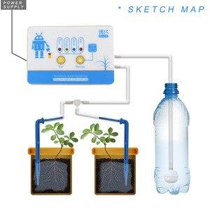 Image 2 - אינטליגנטי גן השקיה אוטומטית מכשיר בשרניים צמח בטפטוף השקיה כלי מים משאבת טיימר מערכת בקר בטפטוף חץ