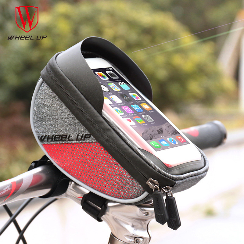 Waterproof Bike Bicycle Handlebar Front Bag Cell Phone Case Pouch Touch Screen