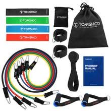 Faixa elástica resistente de equipamento fitness, equipamento de bandas elásticas da resistência para ginástica fitness de 17 peças