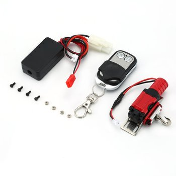 Metal Simulated Winch Traction for 1/10 RC Rock Crawler HSP Redcat HPI 90046 D90 SCX10 TRX-4 with Button Remote Controller