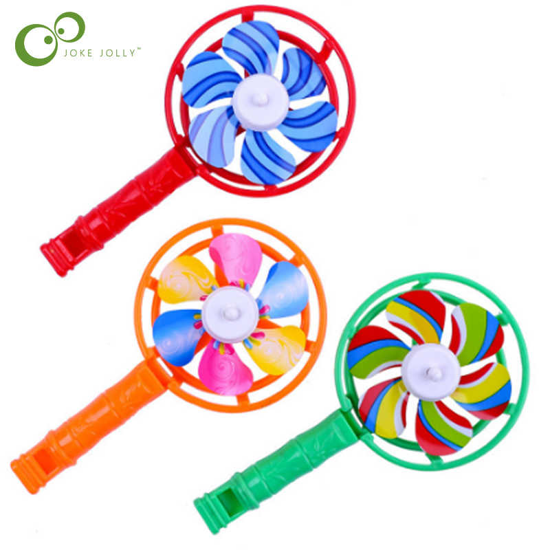 1Pcs Mini Whistle Windmill Plastic Windmill Small Toy Candy Color Nostalgic Toy Children's Educational Casual Toys LXX