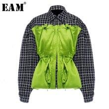 Long-Sleeve Jacket Fashion Women Coat Spring Autumn Big-Size EAM Split Tide Lapel Fit