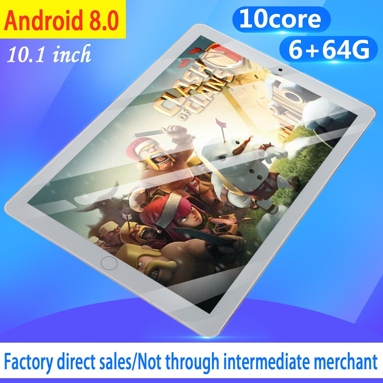 10.1 Inch Android8.0 Tablet Pc Octa Core Original Powerful 6GB RAM 64GB ROM IPS Dual SIM Phone Call Tab Phone Pc Tablets 2020