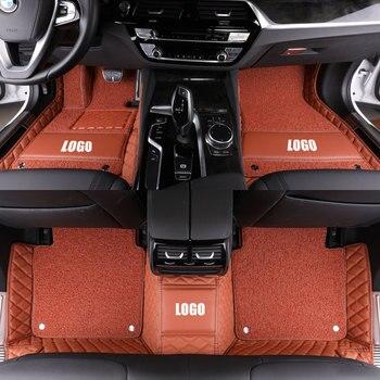 Custom Leather Car Floor Pads for vw Volkswagen Passat B5 B6 B7 B8 SE estate Variant Alltrack Passat CC Coupe Saloon TDI TSI Mat