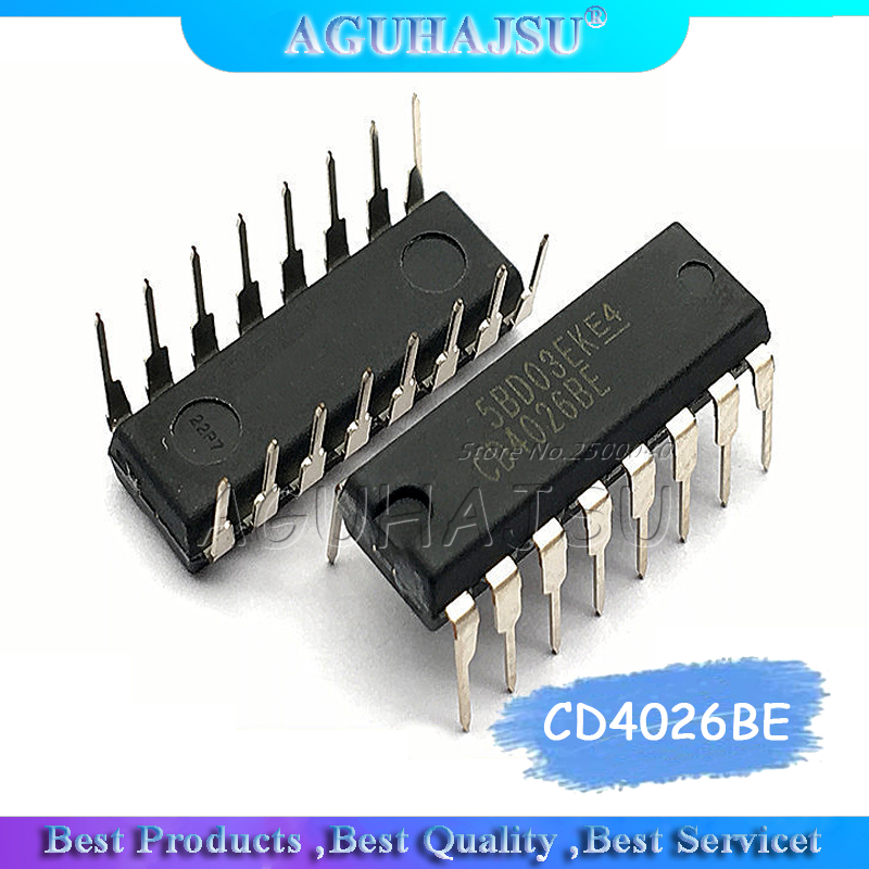 5pcs/lot CD4026BE CD4026B DIP-16 logic chip decimal counter / divider CD4026 New Original image