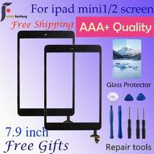 Сенсорный экран стеклянная дигитайзер панель для ipad mini 1& 2 для ipad mini A1432 A1454 A1455 A1489 A1490 A1491 и ремонтный набор инструментов