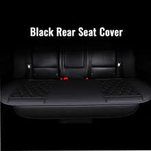 1PC Universal Car Rear Seat Cover Square Lattice Black Four Season PU Material Vehicles Interior Accessories Cushion