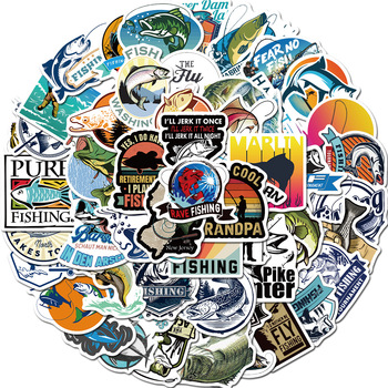 Hooked on Fishing Sticker Pack (50 piece) 1