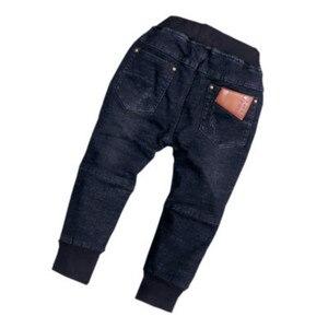 Image 5 - Baby Jungen Denim Jeans Hosen Frühling Herbst kinder Denim Hosen Kinder Schwarz Entwickelt Hosen Solide Kleinkind Leggings 2 8 jahre