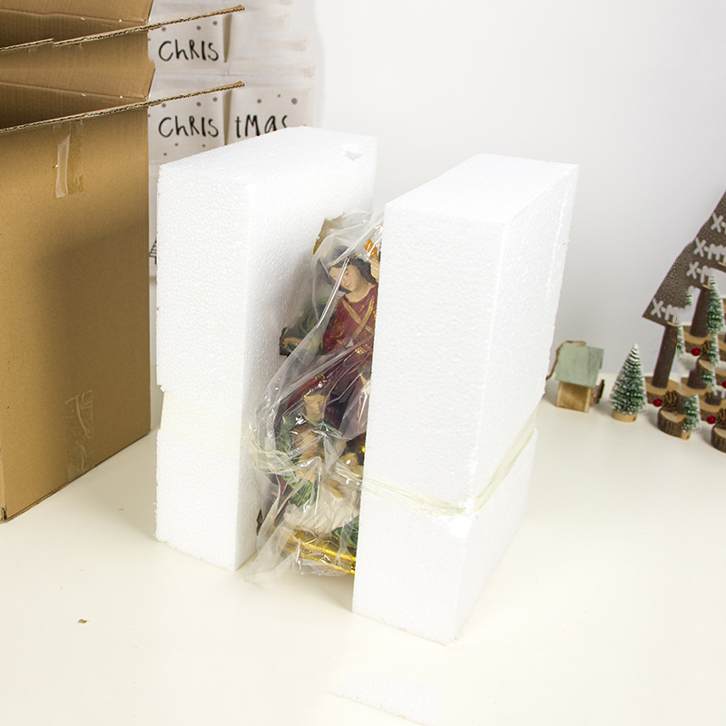 2019 Nieuwe Jaar Kerst Kleurrijke Geschilderd Religieuze Hars Ambachten Xmas Standbeeld Ornamenten Bureau Tafel Kerst Decoraties Voor Huis - 5