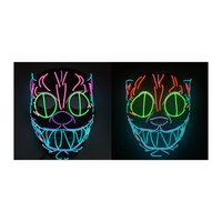 El Cold Light Led Luminous Mask Professional Fashion Halloween Heavy Work To Create Cat Head Animal Theme Party Decoration