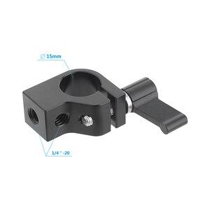 Image 3 - Kayulin Stecker Adapter 15mm Rod Clamp Einstellbare Schwarz Ratsche Wingnut mit 1/4 20 Gewinde Löcher Für Rig Einzigen