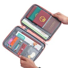 Couverture de passeport de voyage étanche, porte-passeport multifonctionnel, organisateur de portefeuille de documents d'identité, accessoires pour cartes de crédit