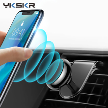 Magnetic Car Phone Holder L Shape Air Vent Mount Stand in GPS Mobile For iPhone X Samsung S9 Xiaomi