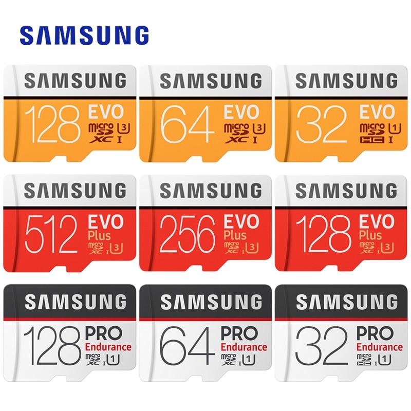 SAMSUNG Microsd kart 256G 128Gb 64 Gb/32 Gb EVO Plus EVO U3/U1 Class10 16 gb 32Gb U1 microSDXC/SDHC EVO + mikro SD kart hafıza kartı