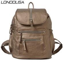 Женский кожаный рюкзак Mochila Feminina, дизайнерские сумки через плечо для женщин 2020, школьные сумки для девочек подростков
