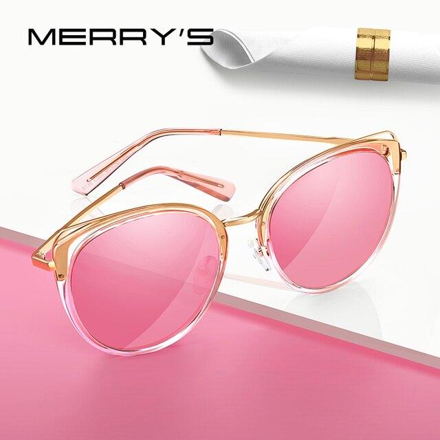 MERRYS تصميم النساء الفاخرة العلامة التجارية القط العين النظارات الشمسية السيدات موضة نظارات شمسية مستقطبة UV400 حماية S6139