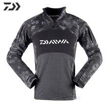 Daiwa Камуфляж Тактический Костюм дышащий полный Рыбалка рубашка с длинным рукавом в Рыбалка одежда толстовка открытый повседневные рубашки