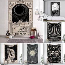 Mandala Tapestry Tarot Wall-Hanging Home-Decoration Free-Delivery Night-Moon