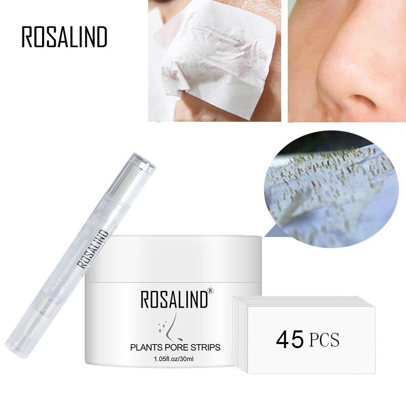 ROSALIND Face Masks Facial From Black Dots Remove Blackhead Acne Nose Peeling FabricFace Mask For Sleep Lifting Cream Skin Care