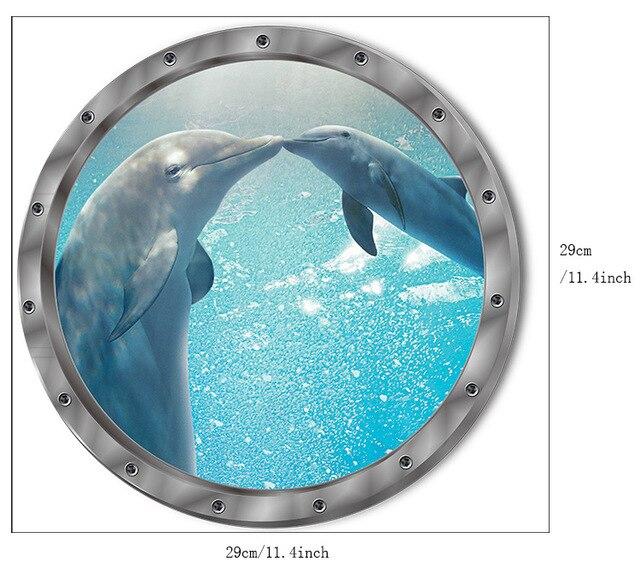 Dolphin Port Hole Sticker 2
