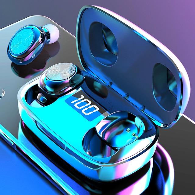New S9 Wireless Headphones Bluetooth 5 0 Earphone TWS HIFI Mini In-ear Sports Running Headset Support iOS Android Phones HD Call