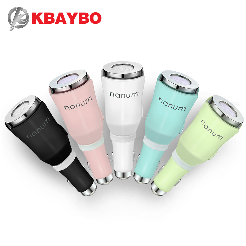 KBAYBO Car Diffuser Mini Aromatherapy Mat Diffuser With Dual Power USB And Car Charger 5 Color For Choose Aroma Car Air Portable