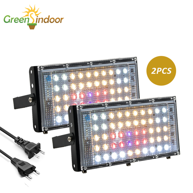 2pcs LED Grow Light 800W Phyto Lamp For Plant 3500K Warm White 5500K Cold White With Red Blue Grow Tent Sunlight Led Hydroponic