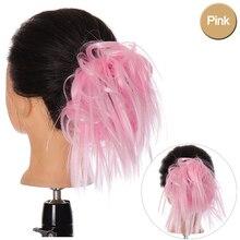 DIFEI вьющиеся волосы, шиньон, синтетические волосы для женщин, шиньон, Женская повязка для волос, Пончик, обернутый конский хвост