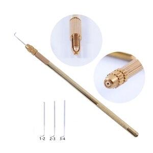 Вентилируемые иглы для изготовления парика спереди, 1 шт. + 3 шт., высококачественные наборы крюков для парика