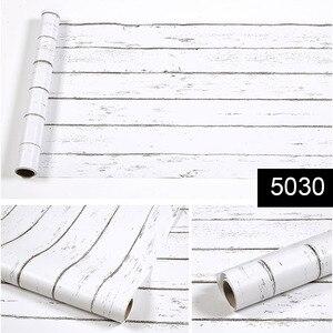 Image 3 - 5M/10M Self adhesive Wallpaper Rolls Wardrobe Cupboard Door PVC Imitation Wood Stickers Old Furniture Waterproof Decorative Film