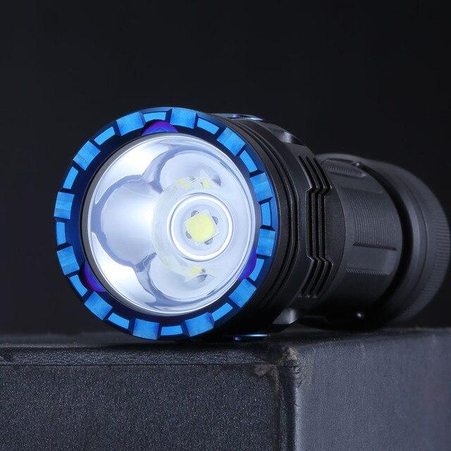새로운 SKILHUNT M300 높은 전력 2000 루멘 EDC 버전 USB 자기 충전식 방수 LED 손전등