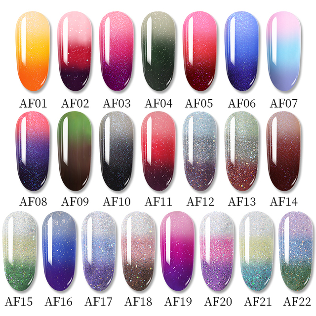 1 Bottle PICT YOU Color Changing Nail Gel Three Colors Soak Off Gel Polish Thermal Gel Temperature Change Nail Gel 1