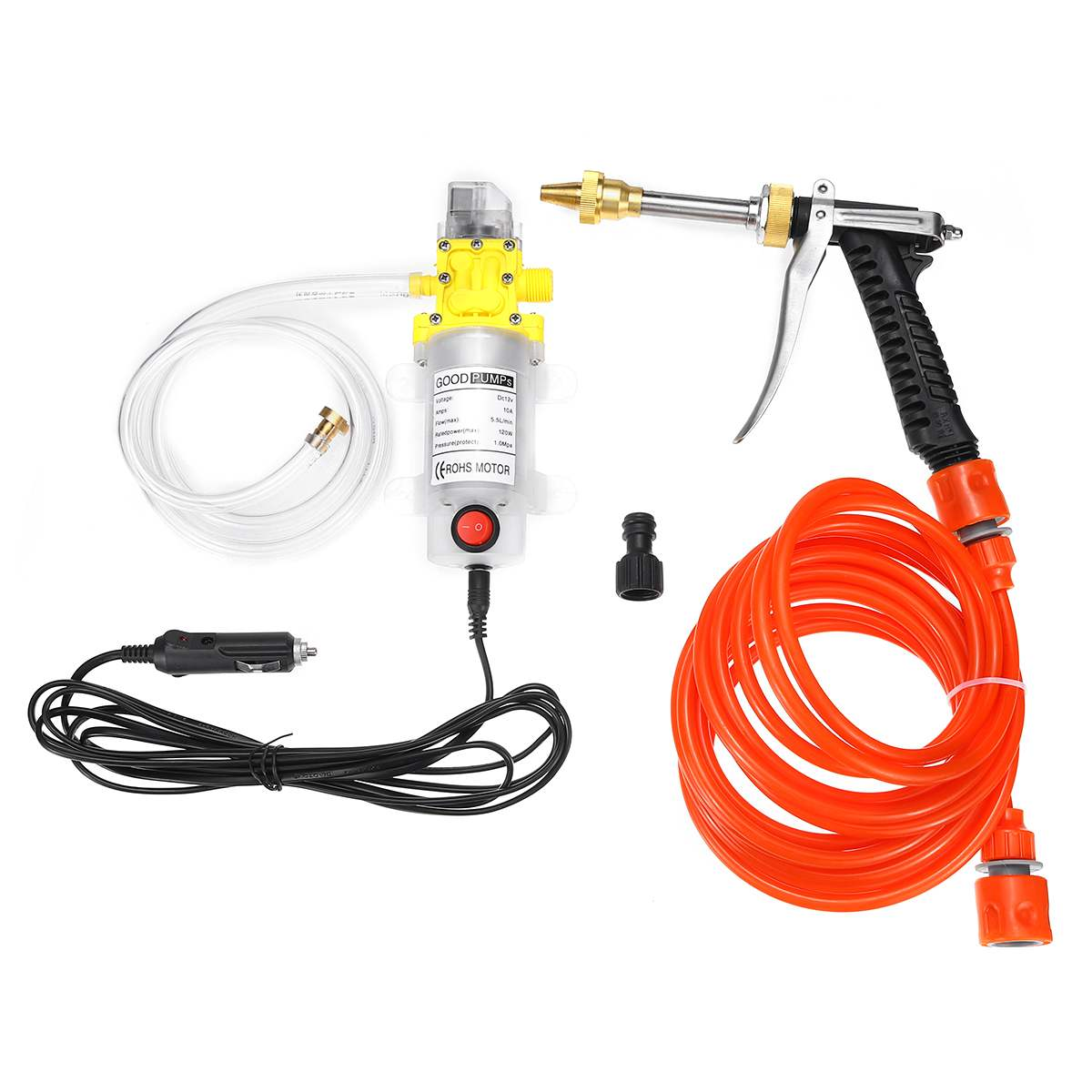 DC 12V 120W Electric Water Pump High Pressure Diaphragm Self Priming Water Pump Sprayer Car Wash 12 V