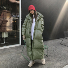 Jacket Women Cotton-Padded-Coat Oversize Long Parkas Hooded Female Warm Thicken Plus-Size