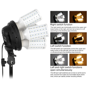 Image 3 - Photography Lighting 50x70CM Four Lamp Softbox Kit E27 Holder With 8pcs Bulb Soft Box Accessories For Photo Studio Video