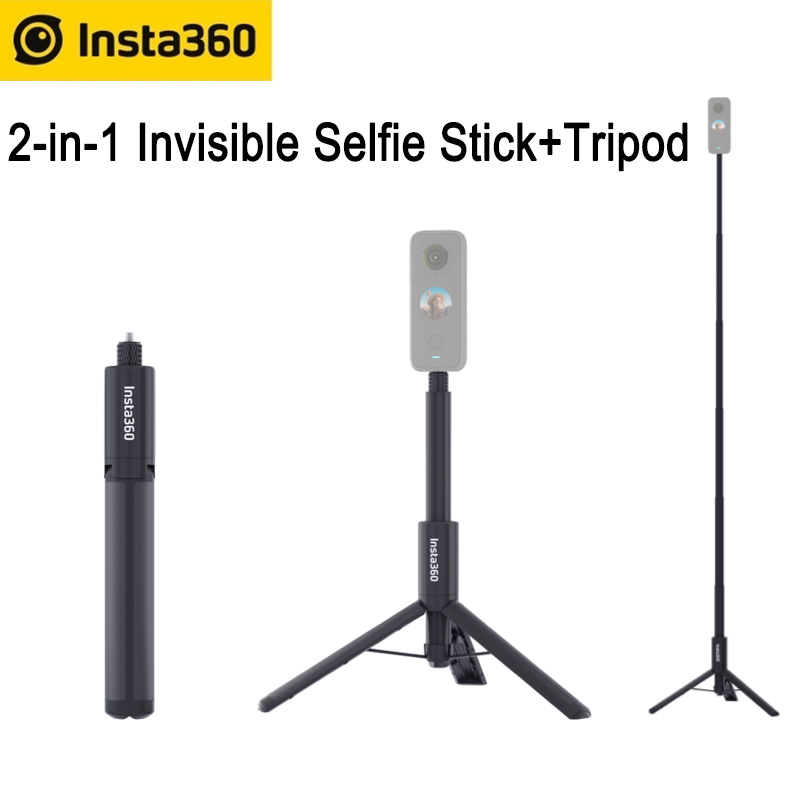 Штатив Insta360 «Все в одном» для GO 2/one X2/One R/One X/ONE, невидимая селфи-палка 2 в 1 и штатив, оригинальные аксессуары Insta360