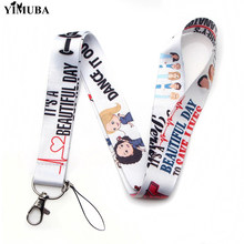 YIMUBA Grey Doctor Nurse TV Show Lanyards Keychain ID Card Name Badge Holder Cartoon Print Mobile Phone Neck Straps Doctors Gift(China)