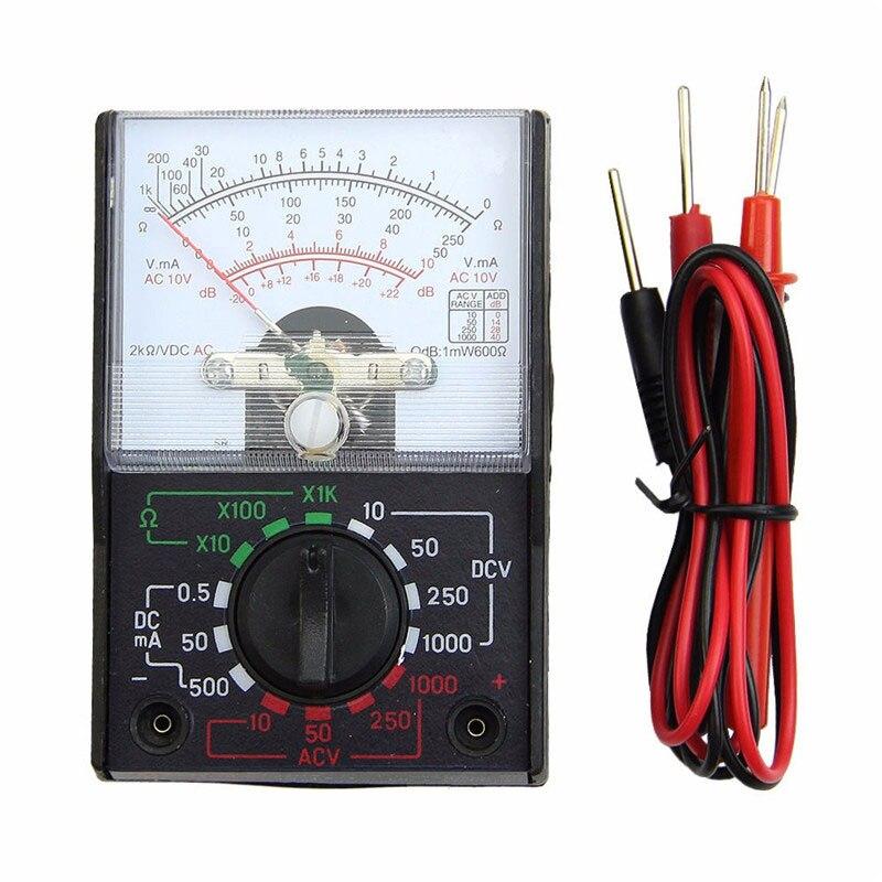 MF-110A Электрический аналоговый мультиметр мультитестер портативный Вольтметр Амперметр AC / DC напряжение тока Ом многометровый тестер